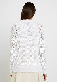 Calvin Klein - NOVEL OPENWORK - Jersey de punto - white - 3
