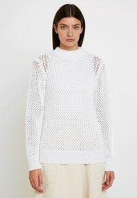 Calvin Klein - NOVEL OPENWORK - Jersey de punto - white - 0