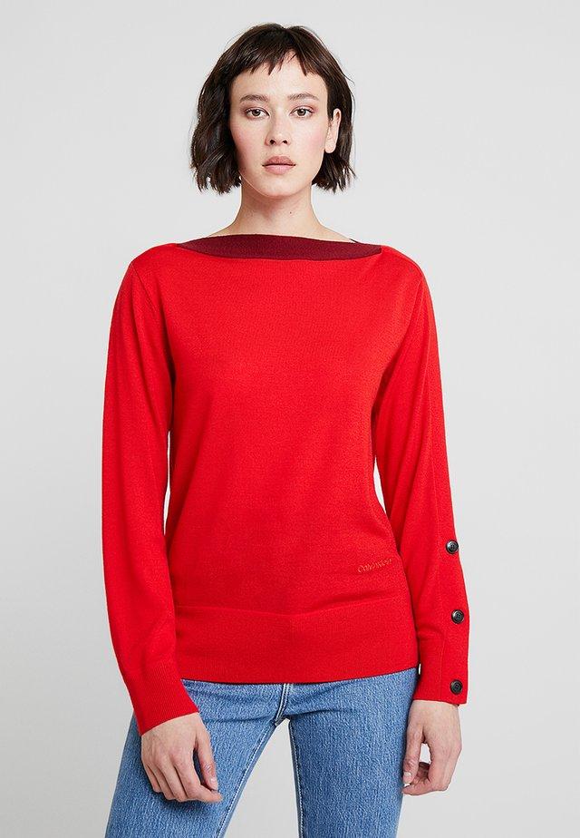 EXTRAFINE  - Stickad tröja - red