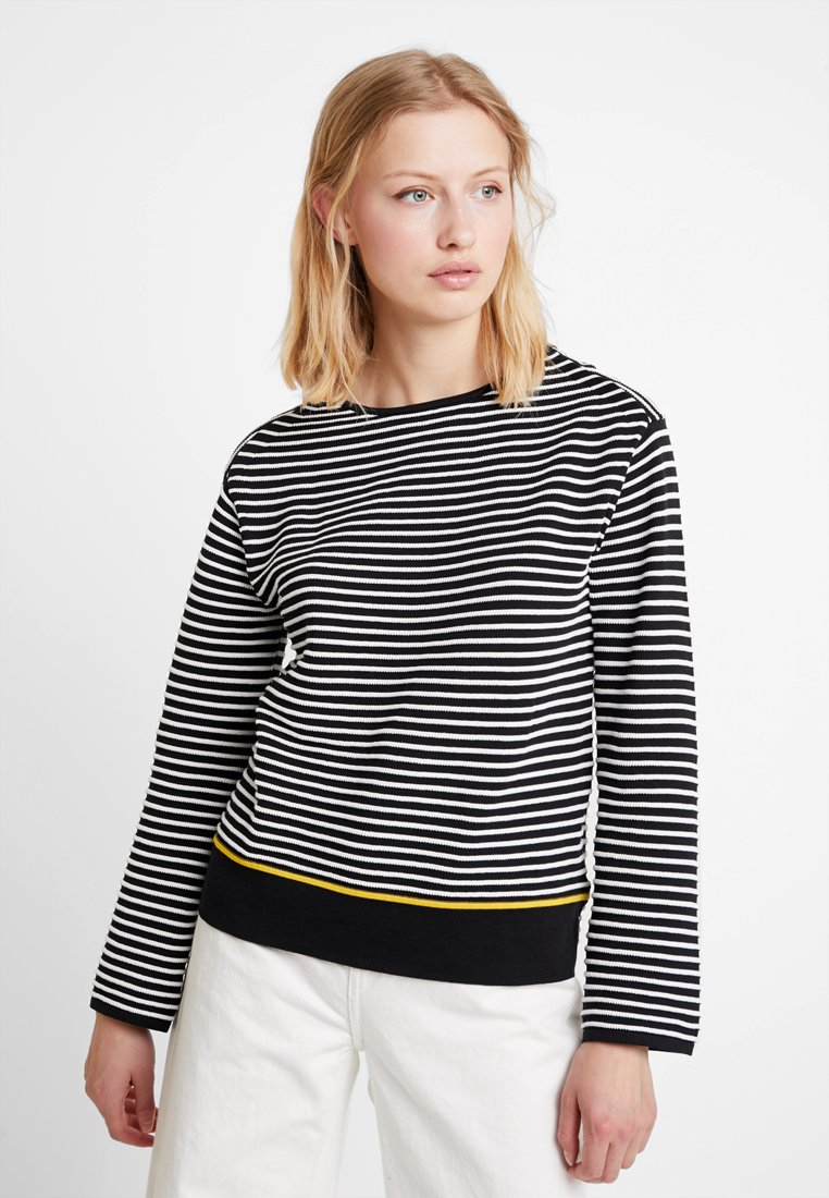Calvin Klein - EASY STRIPE - Strickpullover - black