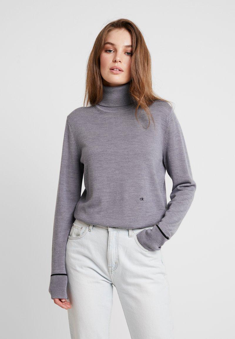 Calvin Klein - SUPERFINE ROLL NECK - Jumper - grey