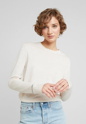 SUPERFINE CREW NECK - Sweter - white