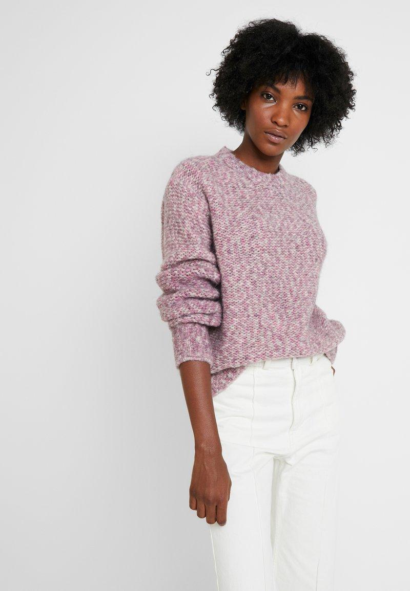 Calvin Klein - MEGA FLUFF SWEATER - Strickpullover - purple