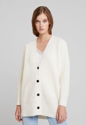 TEXTURE CARDIGAN - Cardigan - white