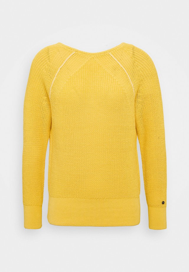 COILED V BACK - Pullover - yellow dahlia