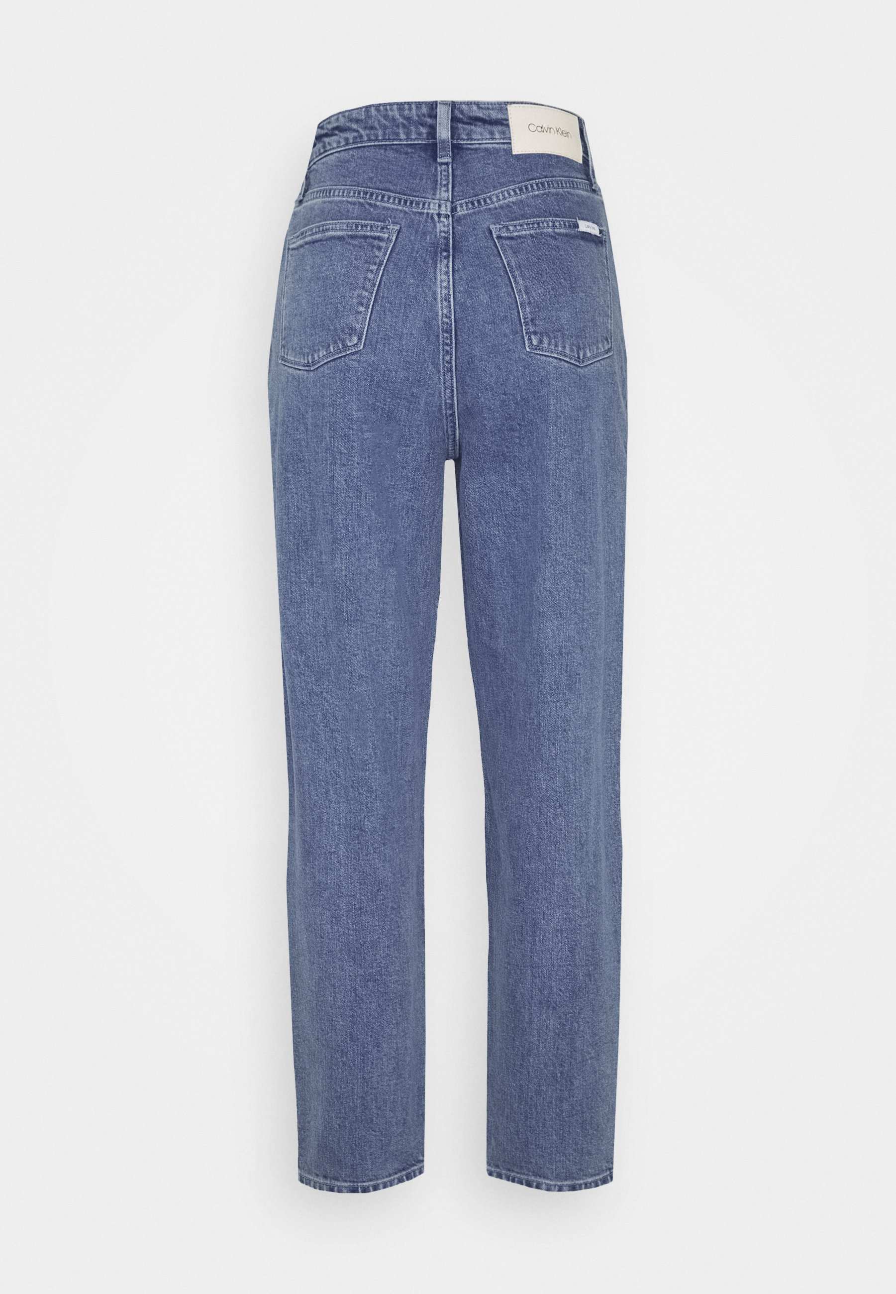 Calvin Klein Mom Jean Crop - Straight Leg -farkut Blue Denim