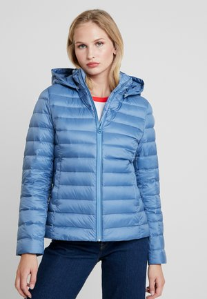 COATED ZIP LIGHT JACKET - Chaqueta de plumas - blue