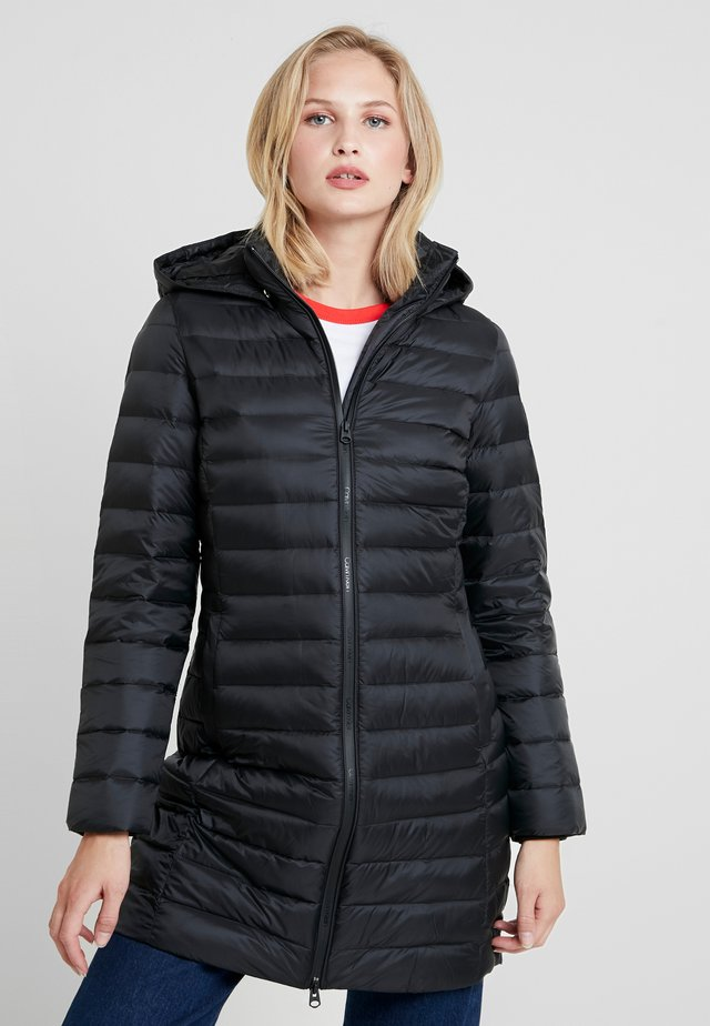 COATED ZIP LIGHT COAT - Doudoune - black