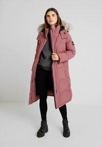 Calvin Klein - MODERN LONG COAT - Vinterkåpe / -frakk - light pink - 0