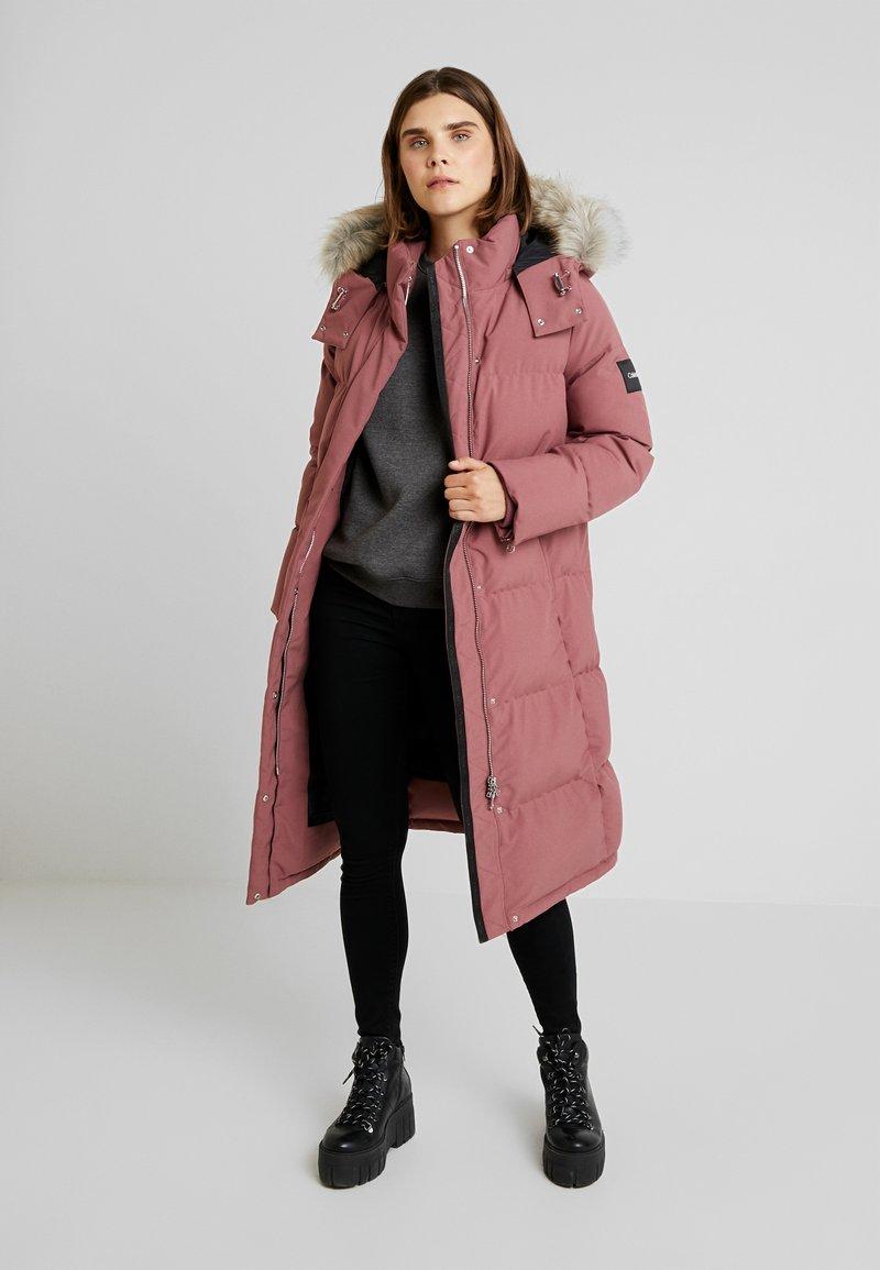 Calvin Klein - MODERN LONG COAT - Vinterkåpe / -frakk - light pink