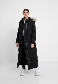 Calvin Klein - MODERN MAXI LONG COAT - Dunkåpe / -frakk - black - 1