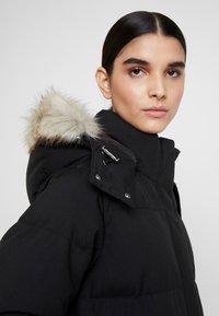 Calvin Klein - MODERN MAXI LONG COAT - Dunkåpe / -frakk - black - 5