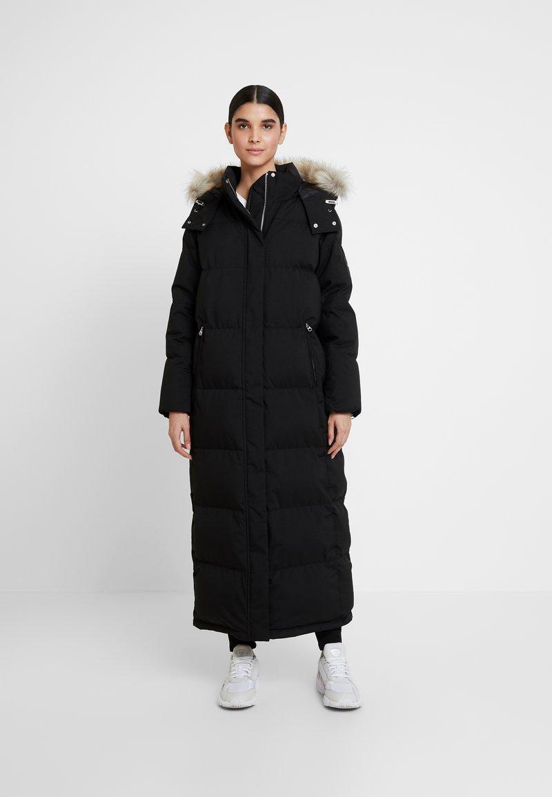Calvin Klein - MODERN MAXI LONG COAT - Dunkåpe / -frakk - black