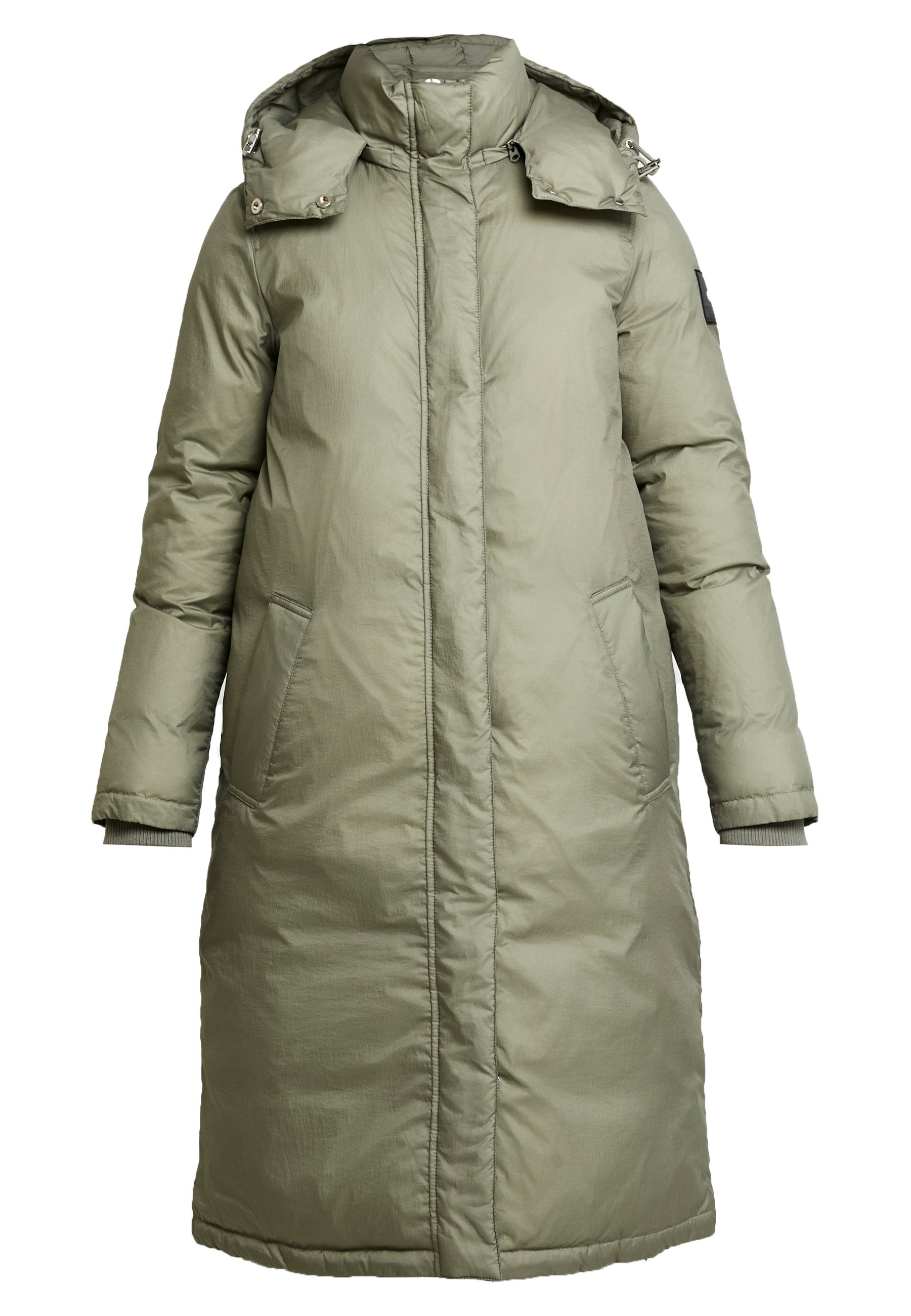 Calvin Klein CRINKLED PUFFER COAT - Płaszcz zimowy - green