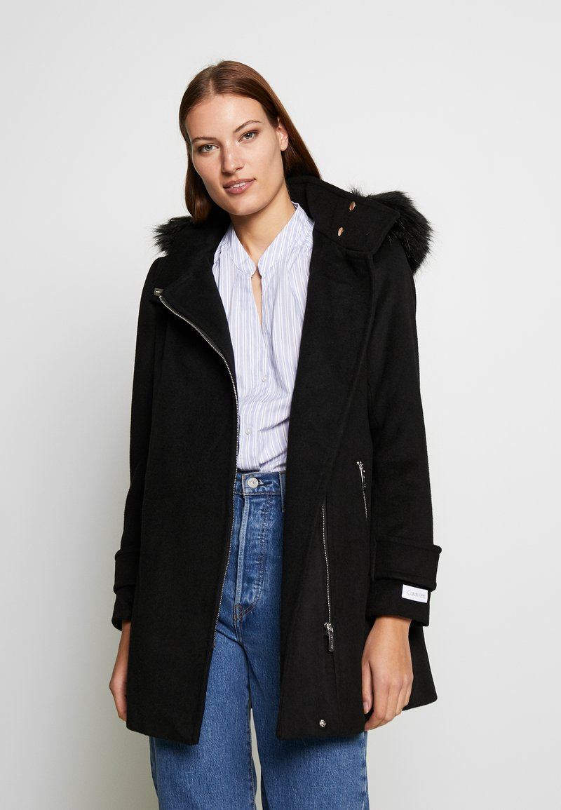 Calvin Klein - ZIP - Classic coat - black