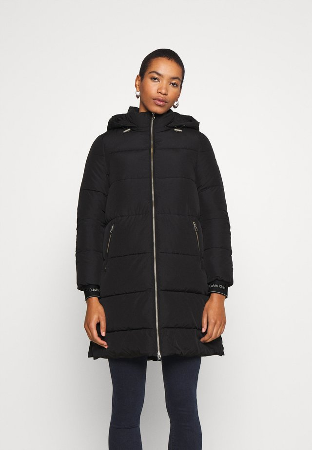 LOGO PUFFER COAT - Winter coat - black