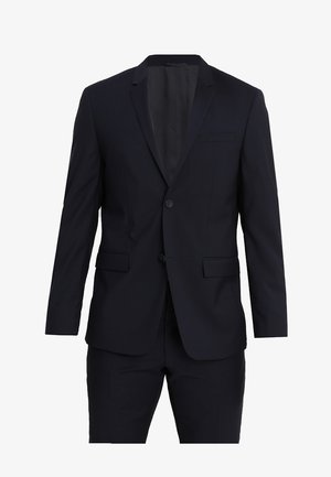 WOOL NATURAL STRETCH FITTED SUIT - Completo - true navy