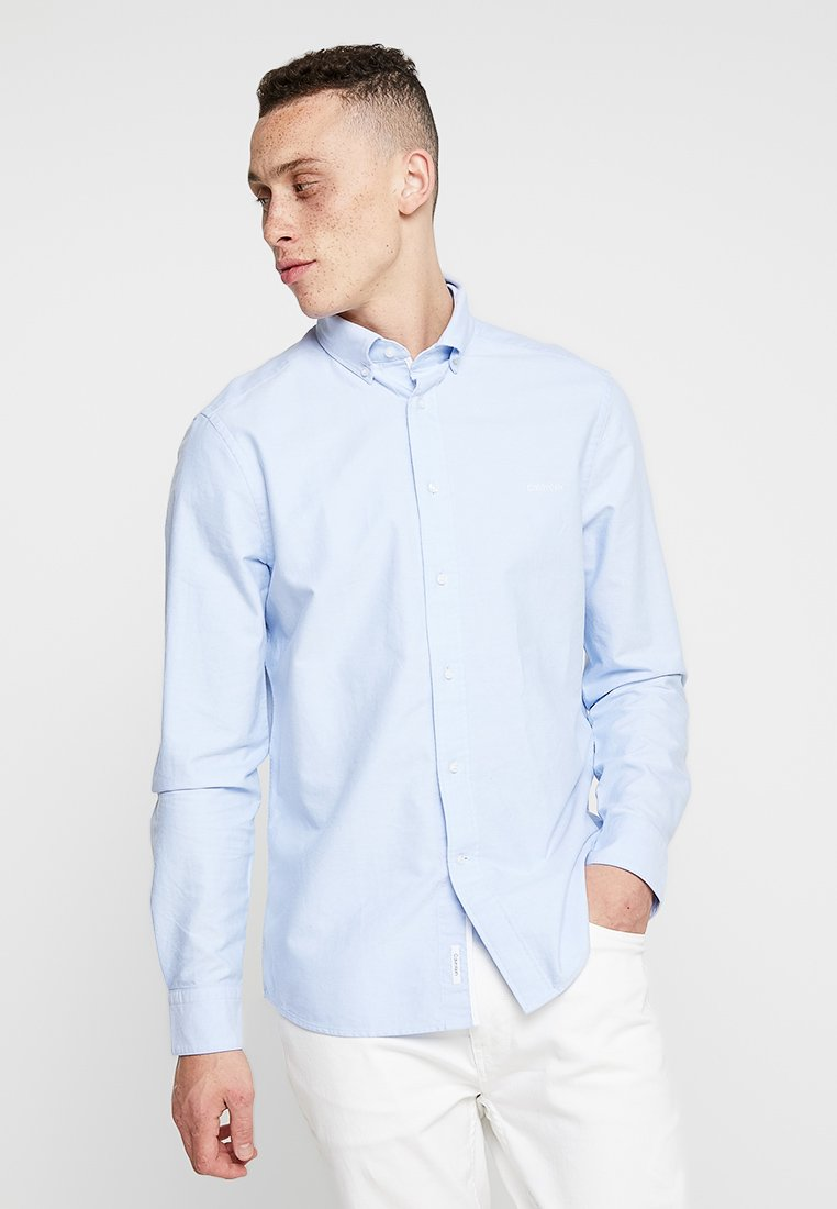Calvin Klein - BUTTON DOWN OXFORD LOGO - Camicia - blue
