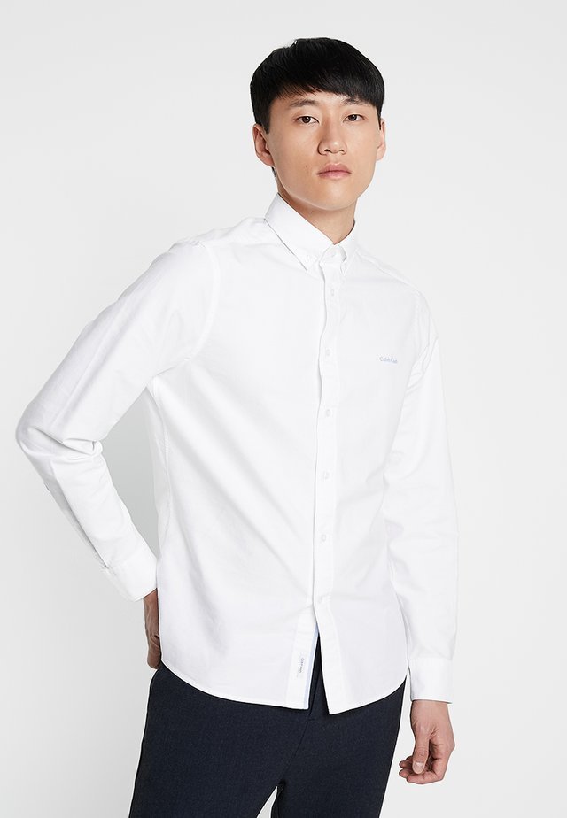 BUTTON DOWN OXFORD LOGO - Skjorta - white