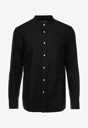 STAND COLLAR GARMENT DYE SHIRT - Košile - black