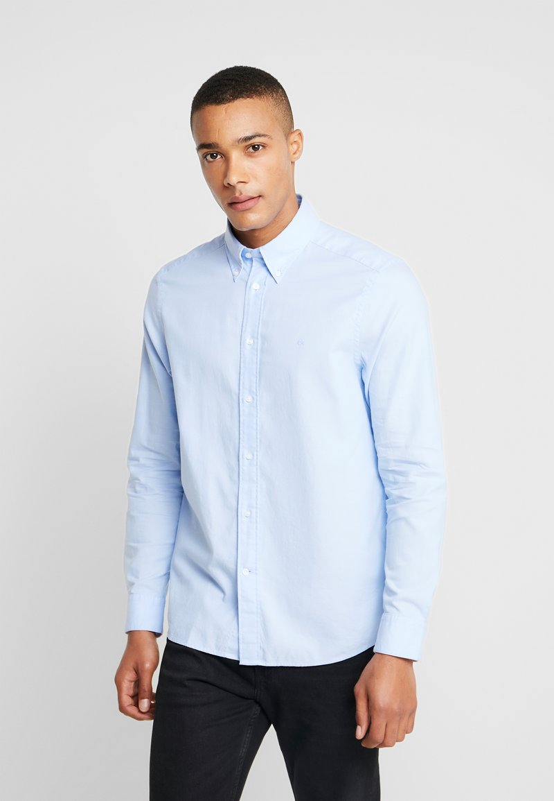 Calvin Klein Tailored - BUTTON DOWN WASHED REGULAR FIT - Hemd - light blue