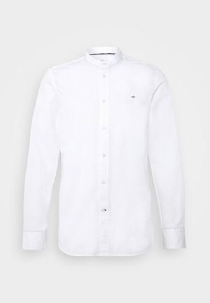 STAND COLLAR LIQUID TOUCH SHIRT - Camicia - white