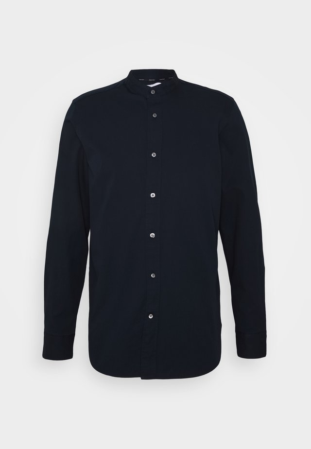 STAND COLLAR LIQUID TOUCH SHIRT - Skjorta - blue