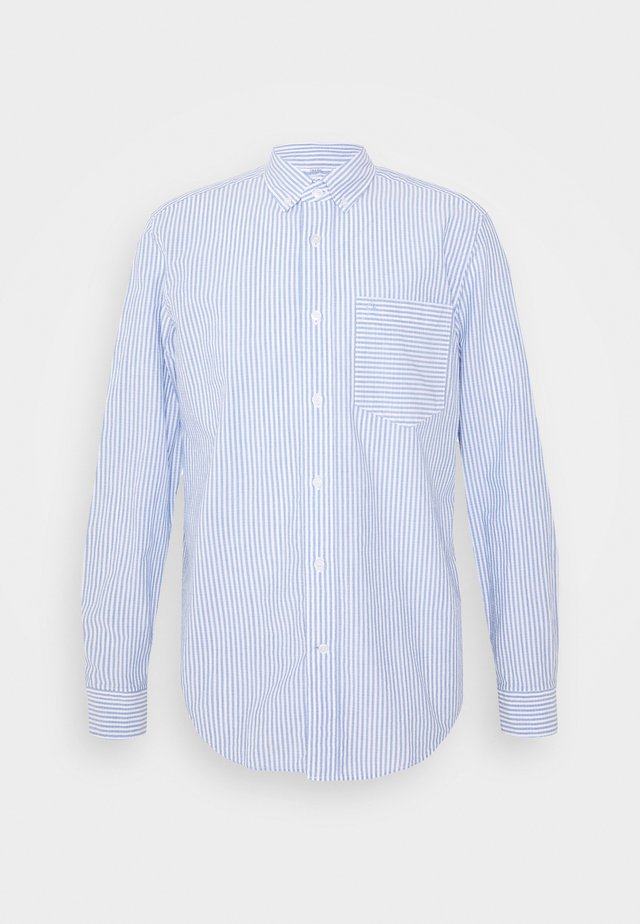 BUTTON DOWN HEATHER STRIPE SHIRT - Overhemd - blue/white