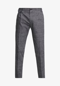Calvin Klein - TAPERED FIT CHECK PANT - Stoffhose - black - 4