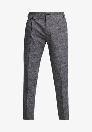 TAPERED FIT CHECK PANT - Pantalon classique - black