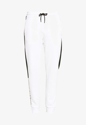 OGO STRIPE  - Tracksuit bottoms - white
