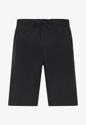 REGULAR FIT CRINKLE - Shorts - black