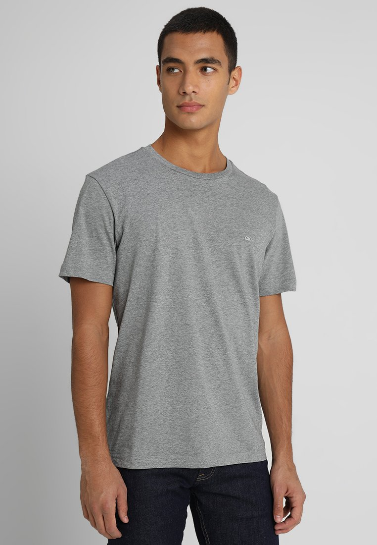 Calvin Klein - LOGO EMBROIDERY - Basic T-shirt - mid grey heather