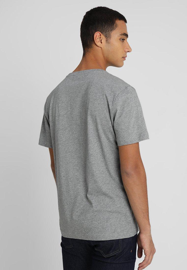 Calvin Klein LOGO - T-shirt basic - mid grey heather