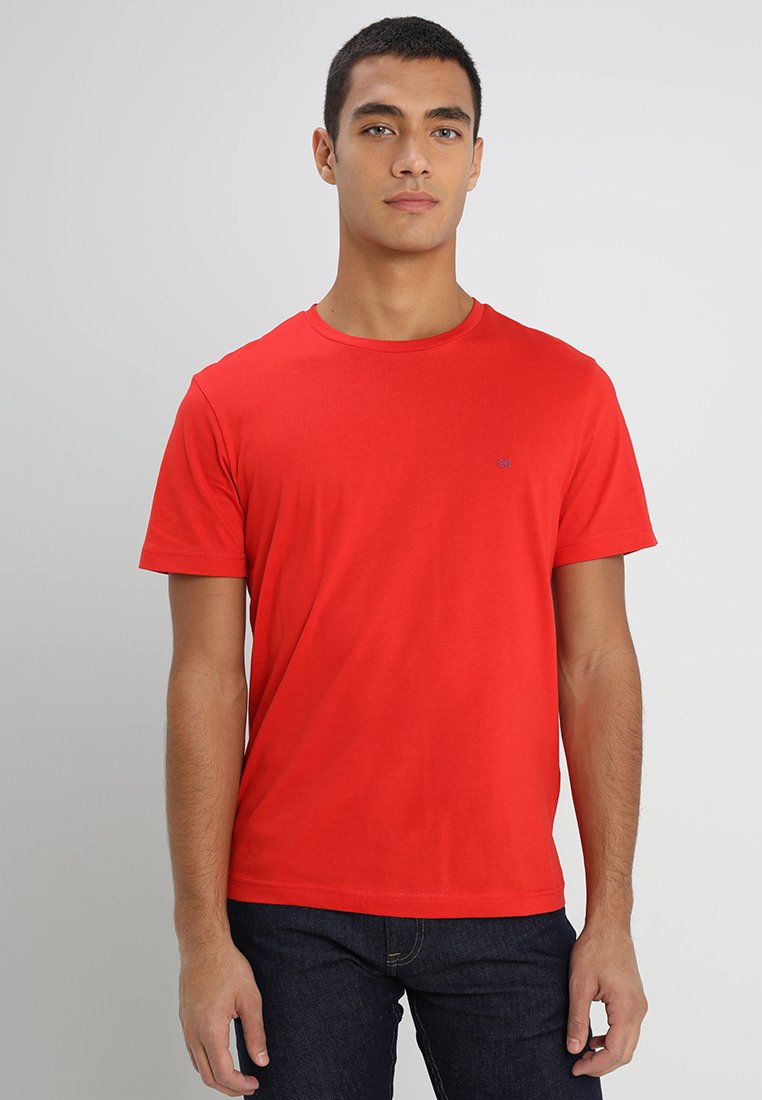 Calvin Klein - LOGO EMBROIDERY - Basic T-shirt - fiery red