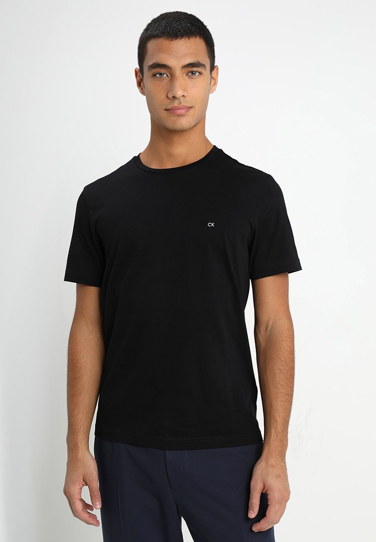 Calvin Klein - LOGO - Basic T-shirt - perfect black