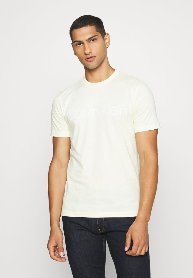 FRONT LOGO - T-shirt print - light yellow