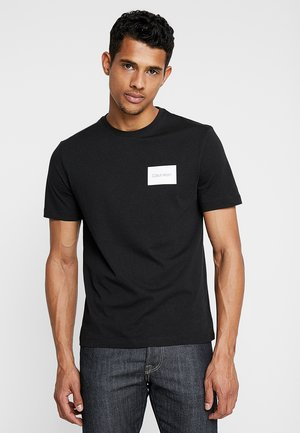 CHEST BOX LOGO - T-shirt con stampa - black