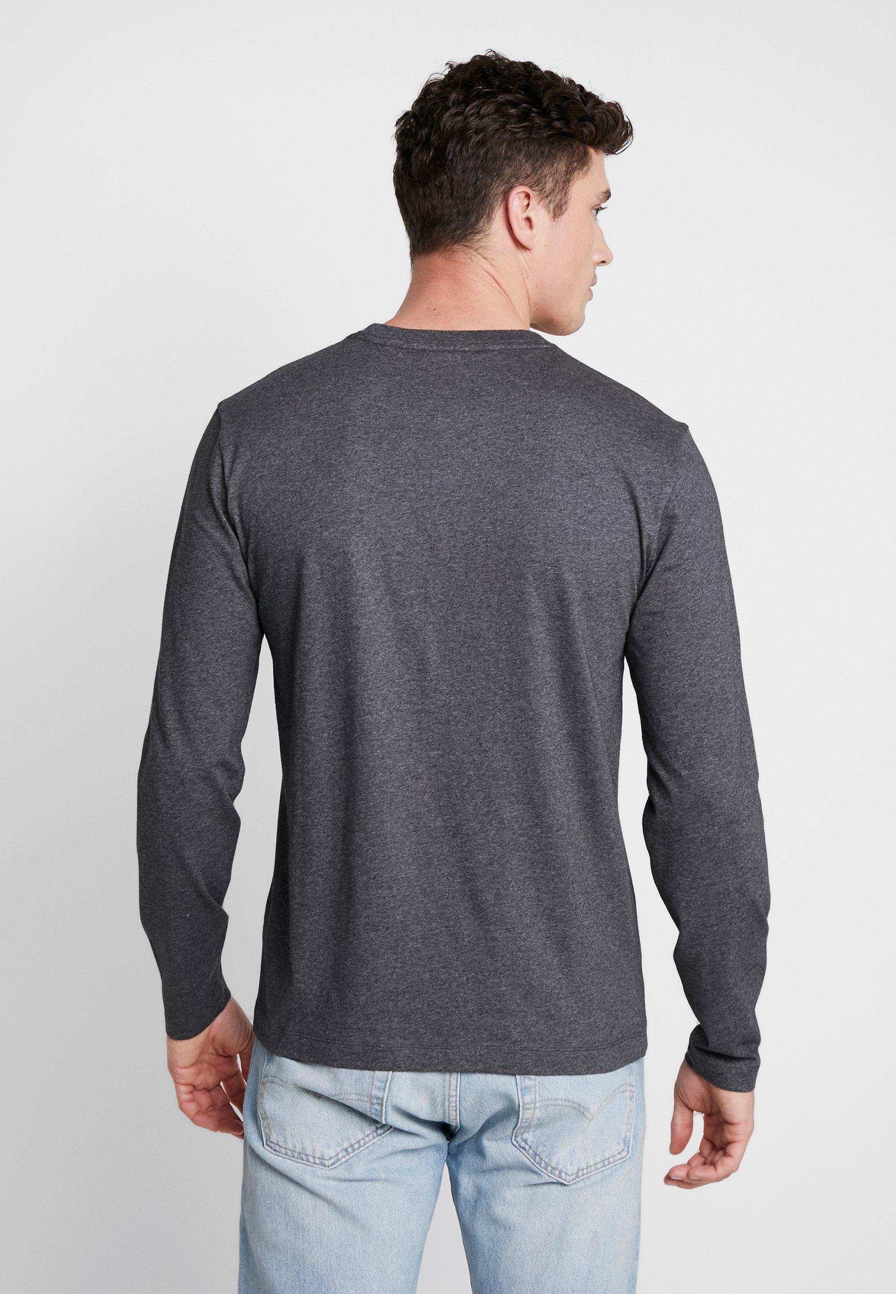 shirt SleeveT Klein Logo Grey Imprimé Calvin Long 34AL5Rj