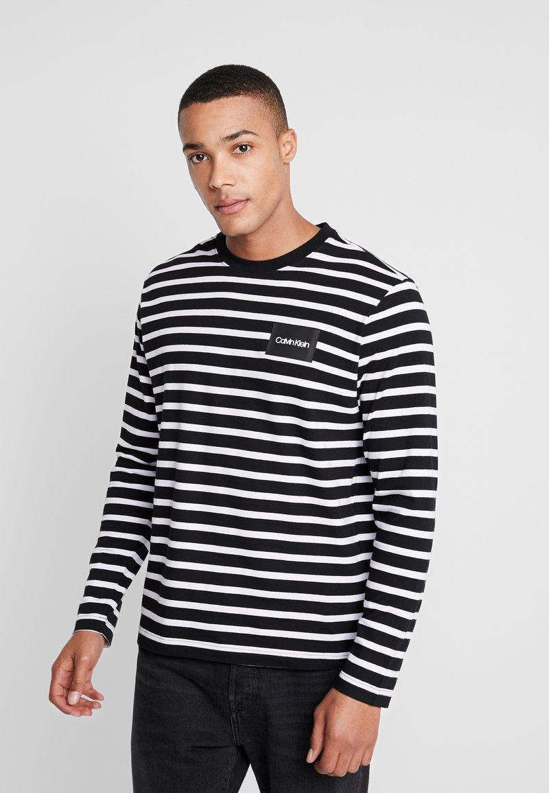 Calvin Klein - STRIPE LONG SLEEVE - Langarmshirt - black