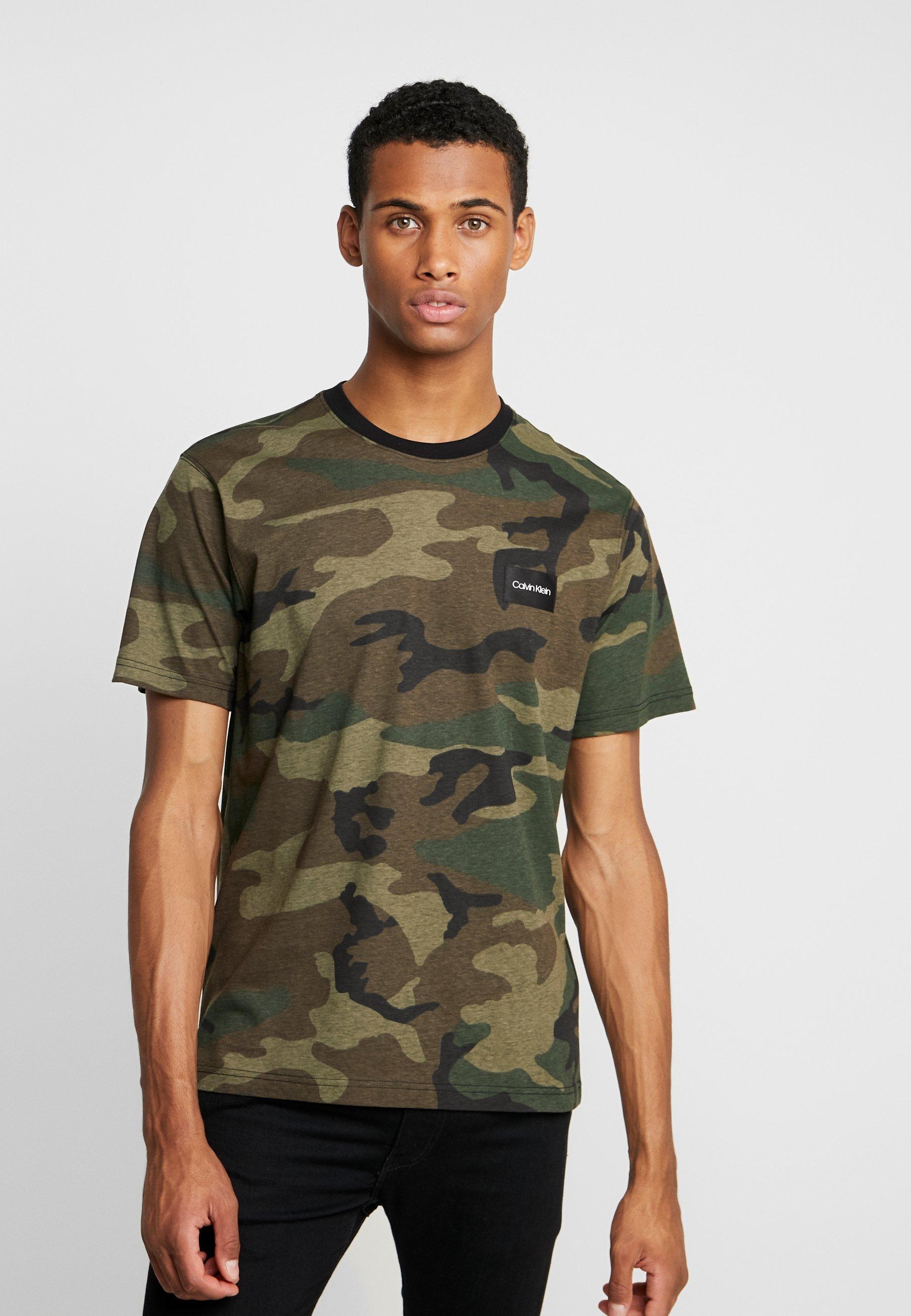 Klein AlloverT Green shirt Calvin Imprimé uPZkOXi