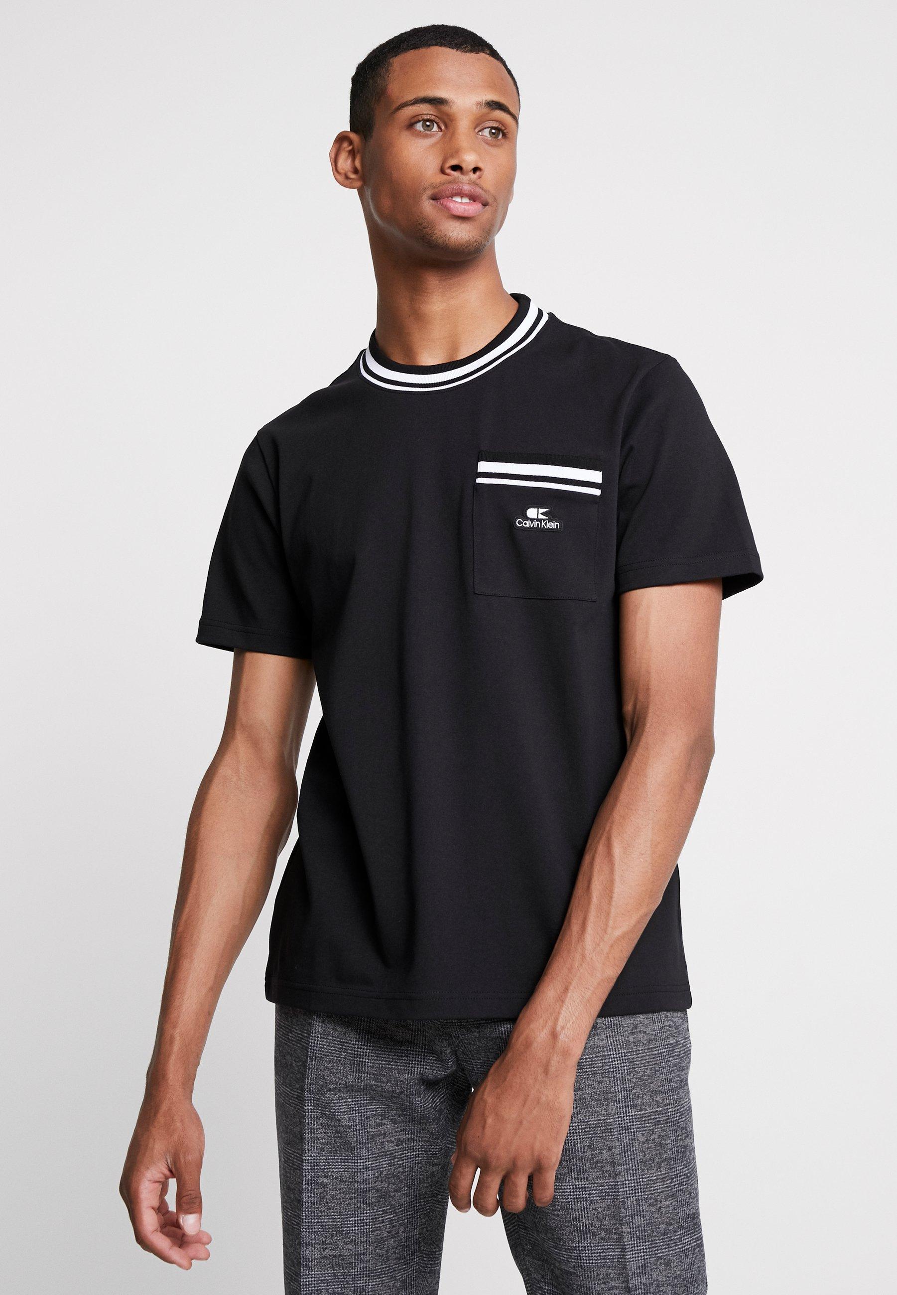 shirt Badge RingerT Klein Vintage Basique Calvin Black 2HDWE9IYe