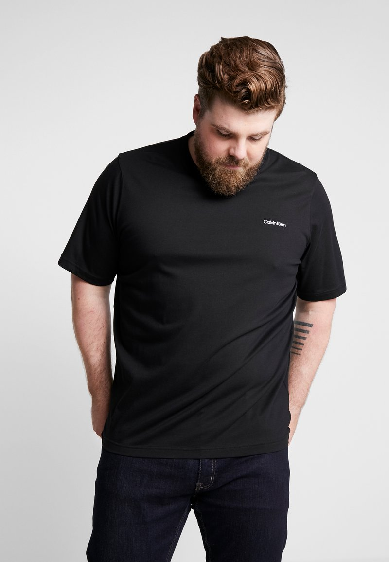 Calvin Klein - CHEST LOGO - Basic T-shirt - black