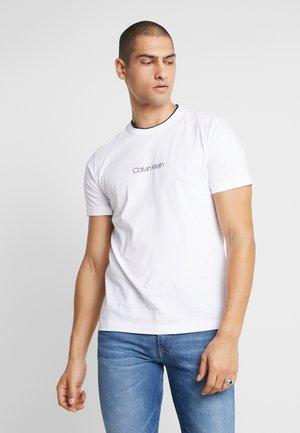 CARBON BRUSH LOGO - T-shirt imprimé - white