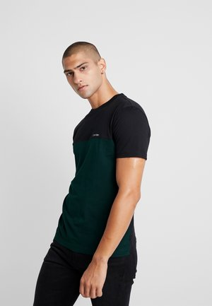 COLOR BLOCK  - T-shirt z nadrukiem - green