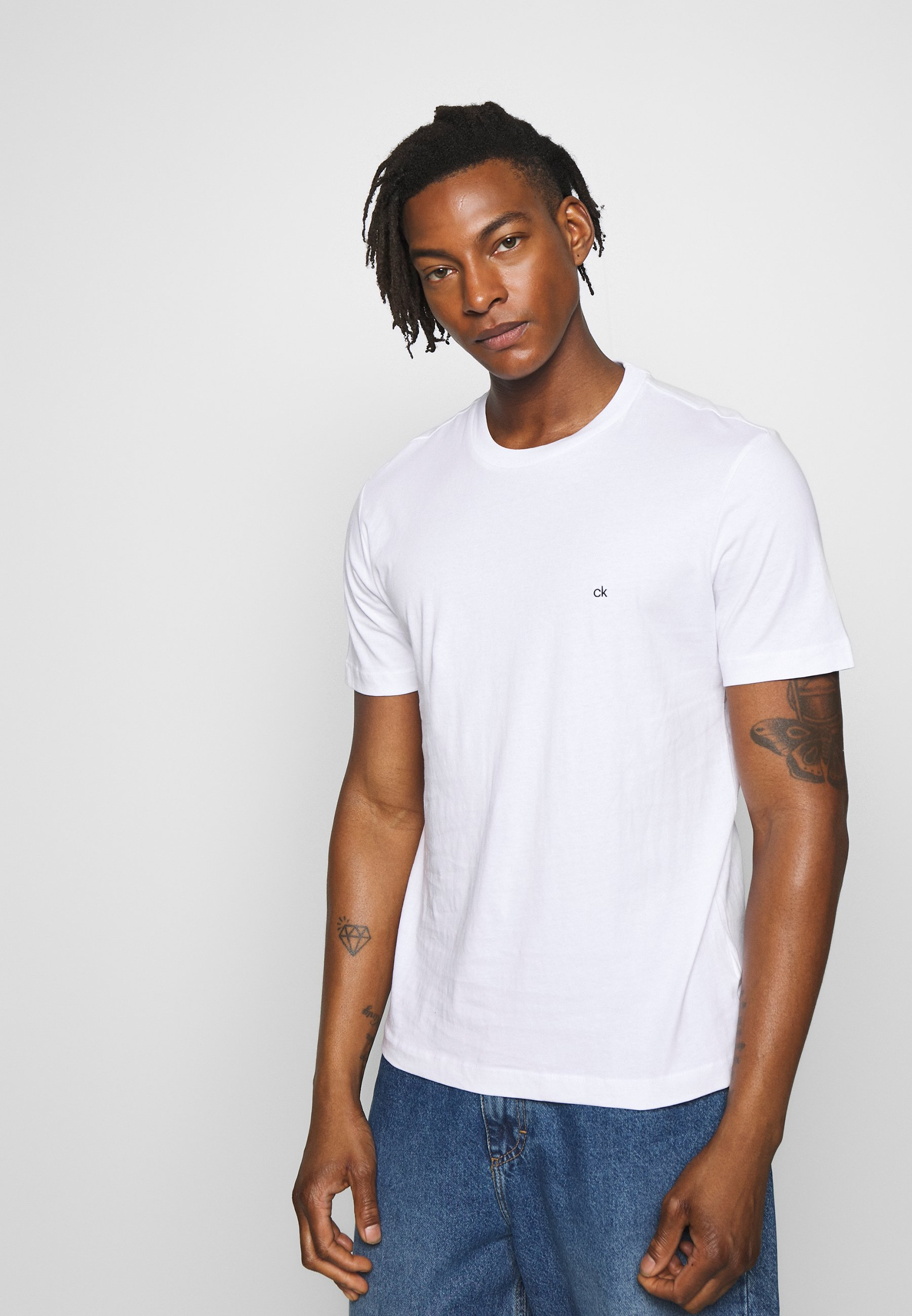Calvin Klein LOGO 2 PACK - T-shirt basic - black/white