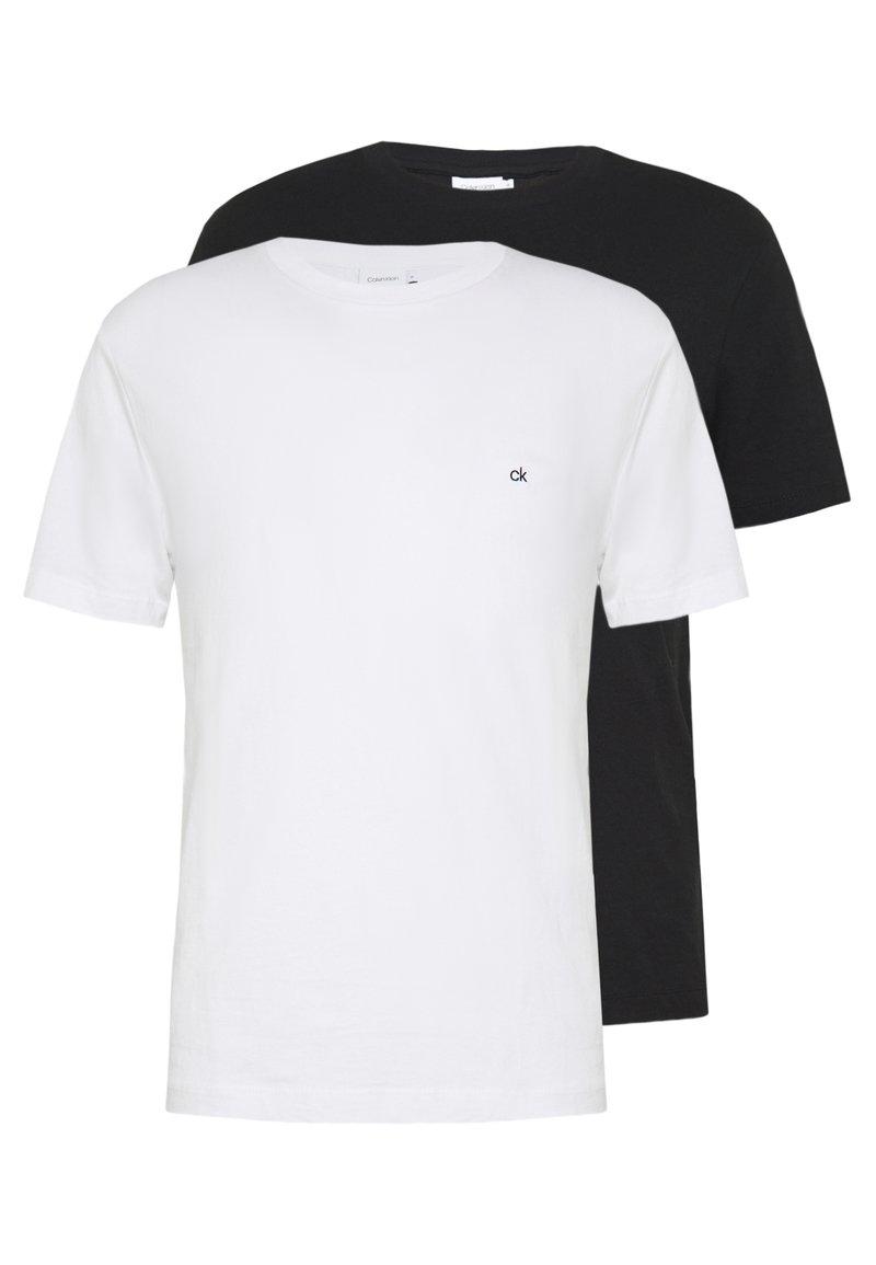 Calvin Klein - LOGO 2 PACK - Basic T-shirt - black/white