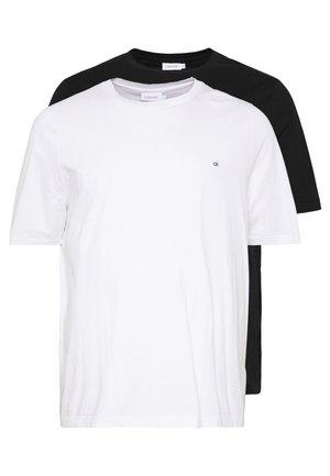 LOGO 2 PACK - Basic T-shirt - black/white