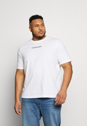 SHADOW LOGO - Print T-shirt - white