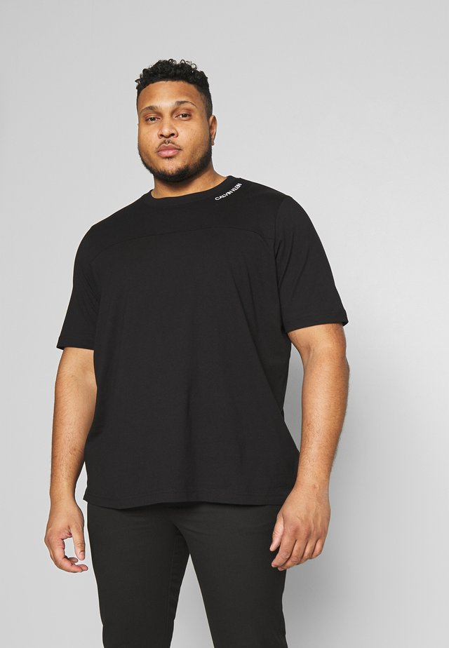 NECK LOGO - T-shirt - bas - black